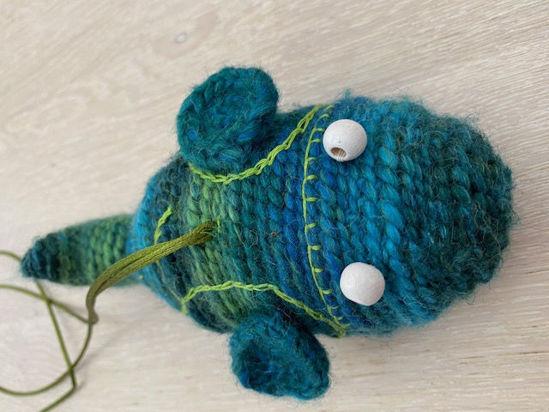 Afbeeldingen van Vis groen blauw