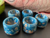 Afbeeldingen van 5 Eierdopjes van keramiek